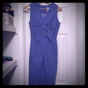 Blue polka dot dress